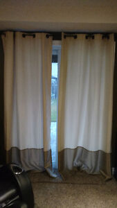 Ivory/Brown Curtains