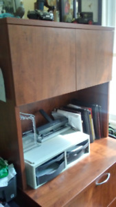 Filing Cabinet And Hutch