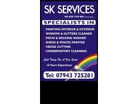 Painter and decorator / window cleaner / guttering services