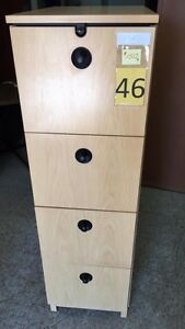 Maple - 4 Drawer Vertical Filing Cabinet