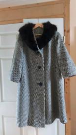 Vintage Swing coat with mink collar.