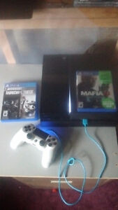 1000gb ps4 1controller 2 games all cords