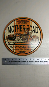 Affiche enseigne style antique motorcycle repair routee 66