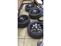 "Genuine bbs ch 18"" 5x112 Audi vw vag alloy wheels"
