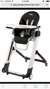 Two Peg Perego high chairs (black)