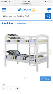 White- Twin bunk beds and mattresses