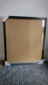 FREE - Large dark wooden frame with glass front