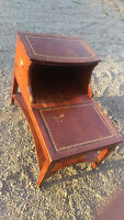 Vintage Retro Wood Telephone/Lamp Side Table