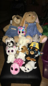 Variety of Stuffed Animals