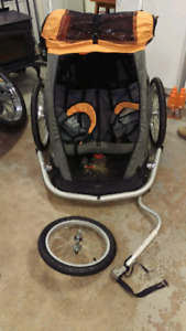 MEC Double Bicycle Jogging Child Trailer Combo