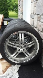 INDY TSW 500 - Wheels with TIRES like new - PNEUS et rims