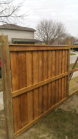 NEW OR REPAIRS FENCES WOOD VINYL ROD IRON CHAIN