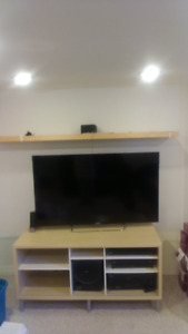 Entertainment Unit/TV Stand and Matching Shelf