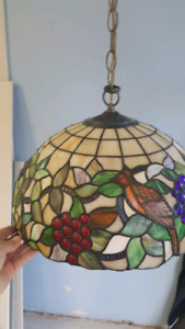 Beautiful stained glass hanging light.