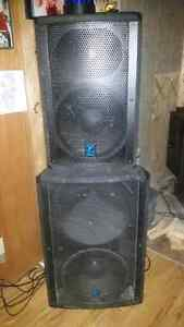 Powered speakers for band or dj use