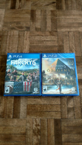 Far Cry 5 and Assassins Creed Origins Saled copies