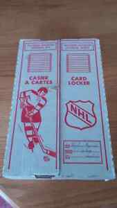 Hockey card locker