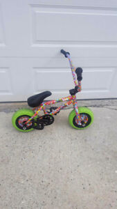 Rocker crazy main mini bmx with candy splatter paint freecoaster