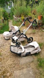 Concorde Wanderer buggy / pram and bassinet