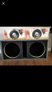1200 watt JBL subs and box