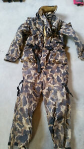 Camo full length Insulated Life Jacket/survival Suit