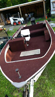 18ft sylvan aluminum boat & trailer