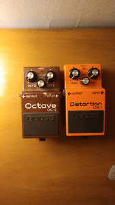 Boss DS-1 and OC-2