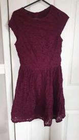 Lace plum dress small.