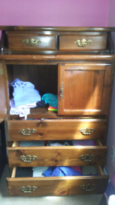 Chest of drawers and matching end table