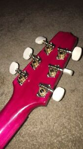 Mini pink guitar  Prince George British Columbia image 3
