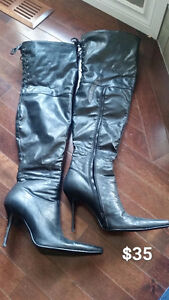 Women's Thigh High boots Size 8.5 Like New $35.00