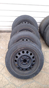 Winter Tires 185/65R14 4x100 on Steel Rims for Corolla 2002