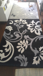 VERONA Rug/Carpet Black White Grey 160cm x 230cm