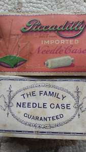 Vintage sewing needle cases COLLECTIBLE needle books