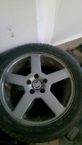 Volvo 17 inch 5x107 235 45 R17 rims and tires