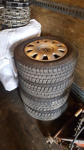 195/65/15 Bridgestone Blizzaks On 5x100 Wheels