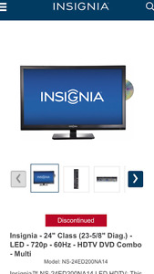 "INSIGNIA LED 24"" TV with built in DVD player"