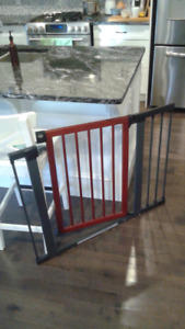 Wood and Steel Baby Gate