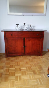 meuble console, 1 tiroir, 2 portes, excellente condition