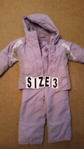 Snowsuit Size 3 , very good condition  $10