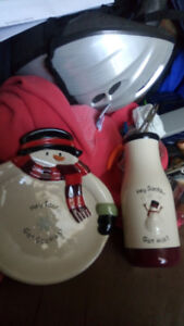 Santa Milk and cookie plate and cup