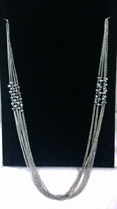 Necklace with silver bead