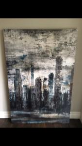 Modern Cityscape Canvas - Large