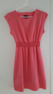 Pretty Coral Pink Knee Length Dress Size XS