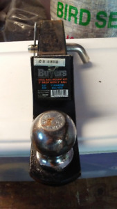 """TRAILER BALL MOUNT WITH 2"""" DROP COMES WITH 2"""" BALL AND HITCH PIN"""