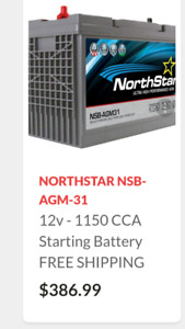 Selling new agm battery