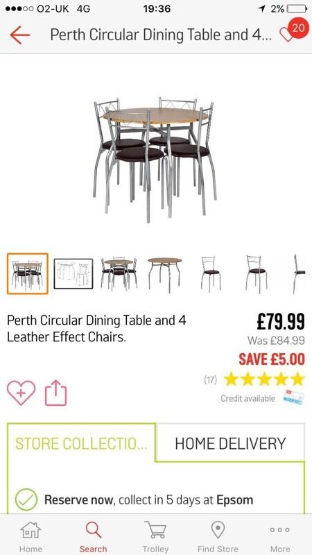 Dining table and 4 chairsin Tadworth, SurreyGumtree - Brand new in box ordered wrong one and lost reciept will accept offers