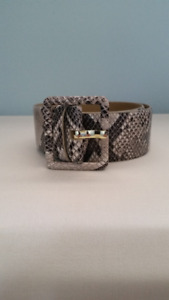 Snake Print Belt - By Talbots