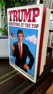 TRUMP, Surviving at the Top, hard cover book