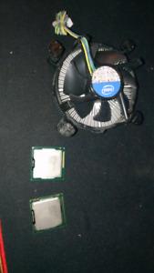 i5 750, Pentium G630 and cooler.